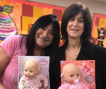 Chatterton Donates Dolls for Therapy